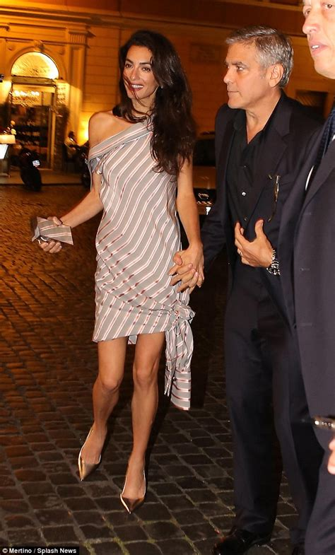 what to wear at 38 years old george clooney and amal enjoy rome date night after