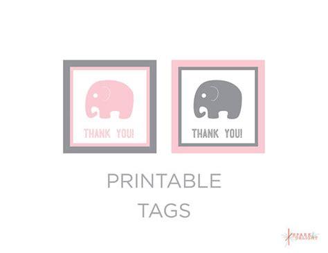 printable elephant name tags printable tags elephant baby shower elephant tags