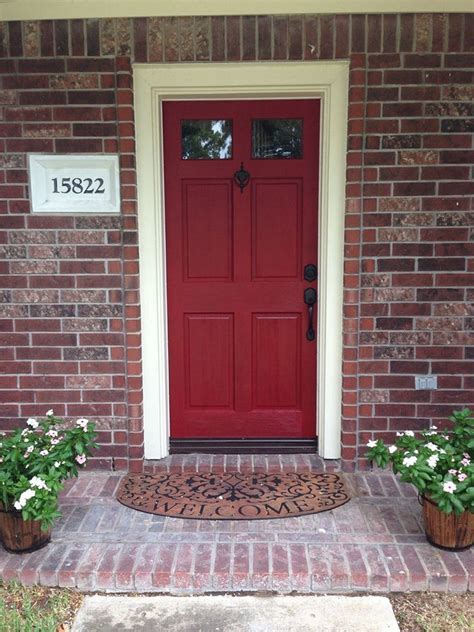 front door colors with red brick red front door to boost positive energy of your house