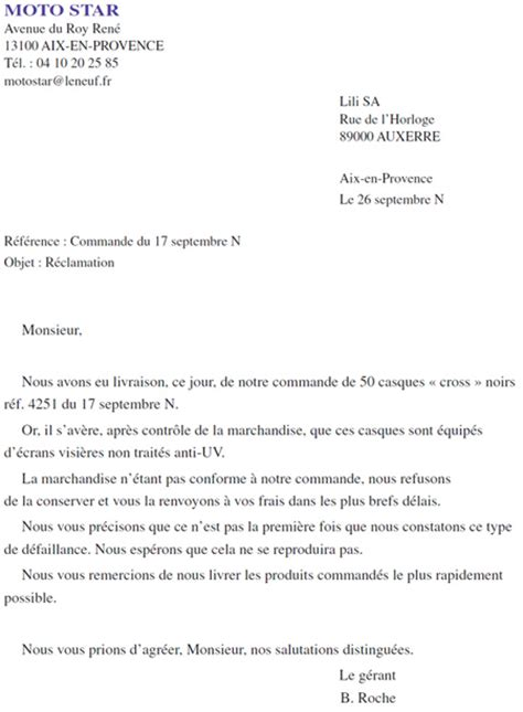 Exemple De Lettre Reclamation Lettre R 233 Clamation Lettre De Motivation 2017