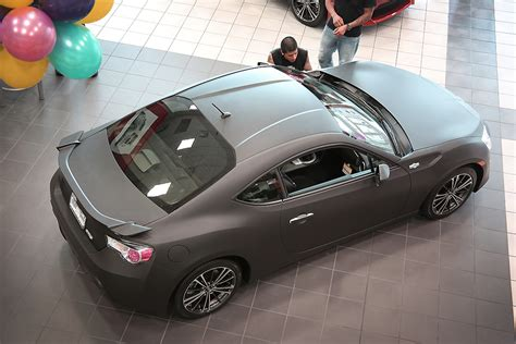 frs car black scion fr s black matte wrap car wrap city