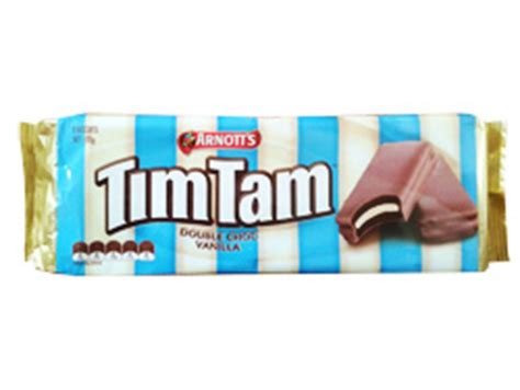 tim tam wafer vanilla 15 5 gr arnotts tim tam choc vanilla australian and new