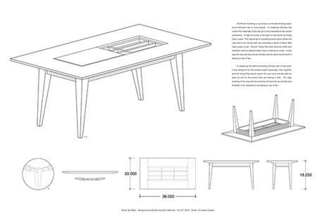Isometric Furniture Drawing by A Table To Promote Intimacy On Risd Portfolios