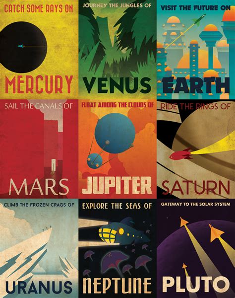 Plakat Retro by Retro Planetary Travel Posters By Skullx On Deviantart