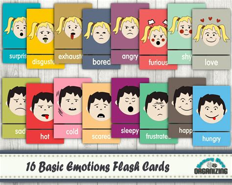printable emotion flashcards for toddlers emotions flash cards basic emotions cards blank cards
