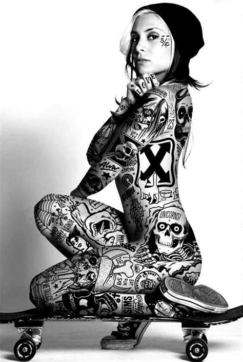 tattoo full body model 41 best skateboarding girl tattoos images on pinterest