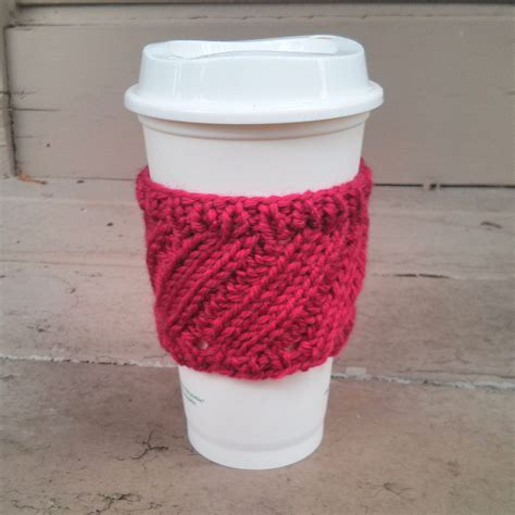 Diagonal Rib Coffee Cup Sleeve Purl Avenue