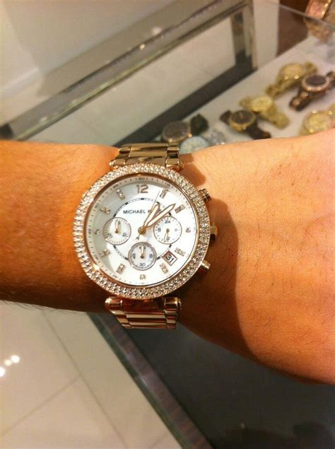 gold michael kors fashionable watches