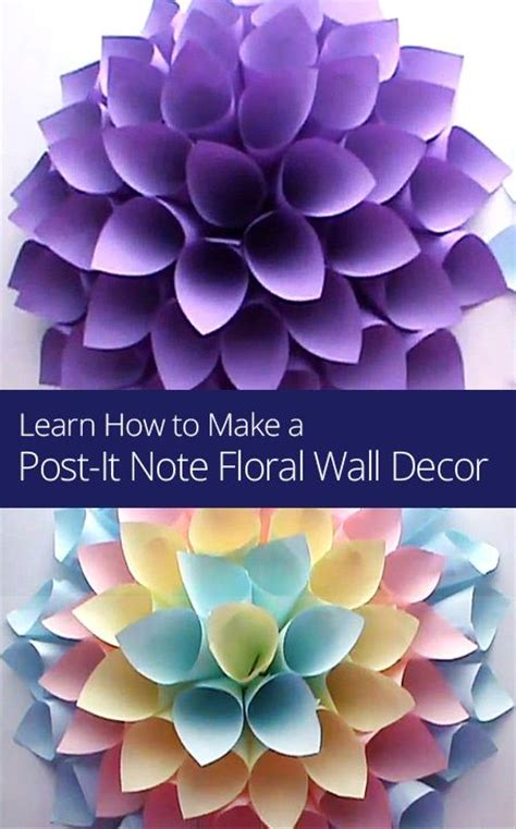 Learn How To Make Paper Flowers - 17 best ideas about sticky note crafts on post
