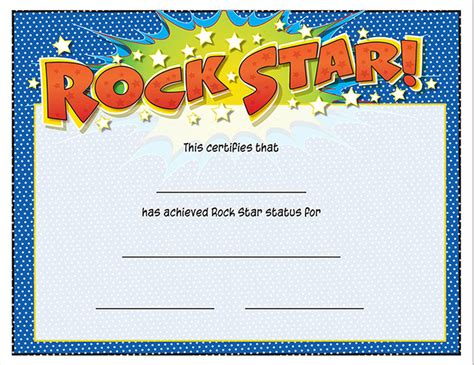 buy rock star certificate awards trophies music