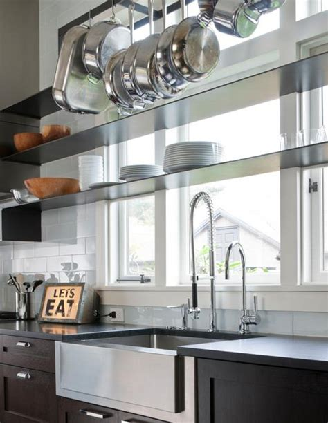 Contemporary Home Exteriors Design by Kitchen Window Shelves Contemporary Kitchen Nb