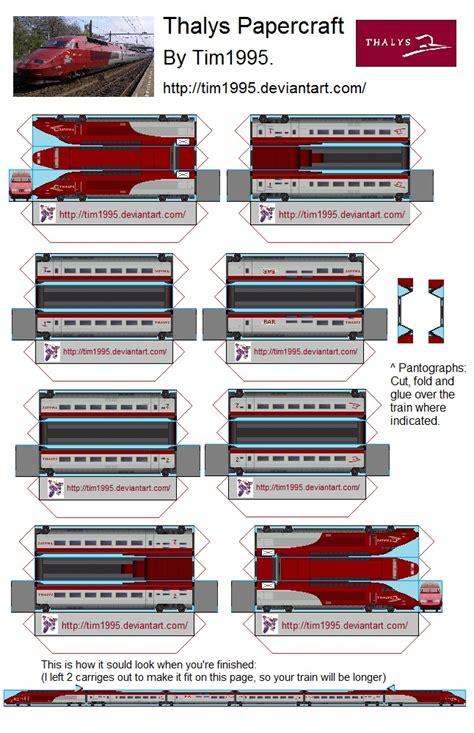 Papercraft Trains - thalys papercraft by tim1995 on deviantart