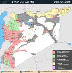 Syria Civil War Map by Battle Map Syrian Civil War June 2015