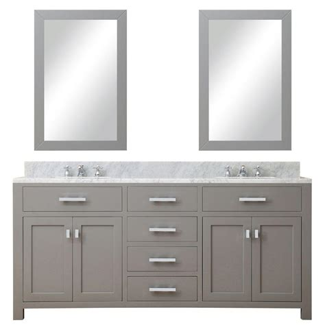 grey vanity contemporary bathroom madison taylor design water creation 72 in w x 21 in d vanity in cashmere grey