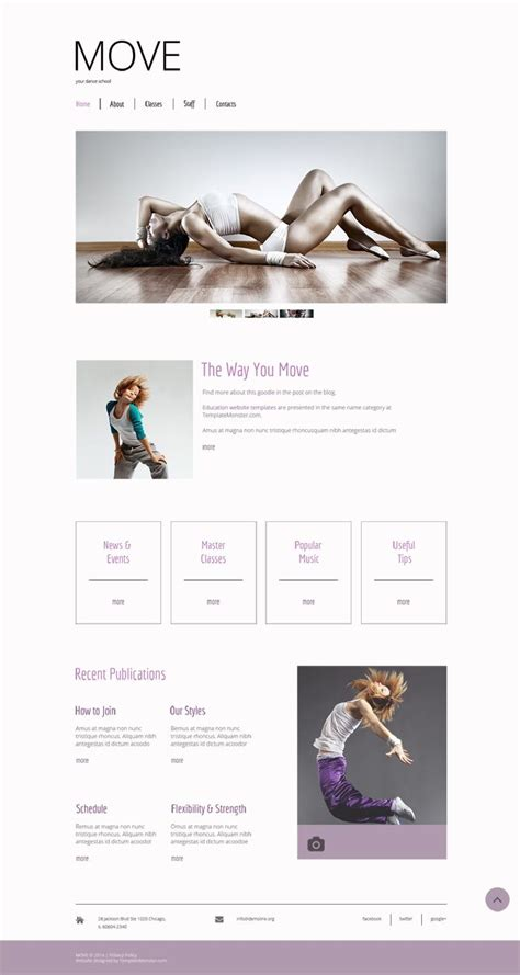 free html5 template for dance studio turn your passion