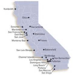 map of california universities and colleges csu cus map
