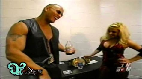 trish stratus jeff hardy jeff hardy rock and trish backstage wwe raw 04 07 2003 m2t