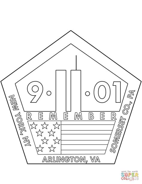 Coloring Page For 9 11 by 11th September Memorial Coloring Page Free Printable