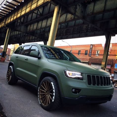 jeep grand cherokee vinyl wrap 1c4rjfag1dc583881 matte army green 2013 jeep grand