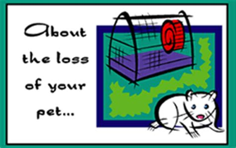 mouse cage card template printable pet hamster mouse sorry for the loss of your pet