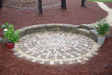 pavers patio circle design kit 0116lg