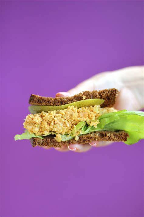 plant protein recipes that youâ ll enjoy the buffalo chickpea salad sandwich healthy lunch ideas