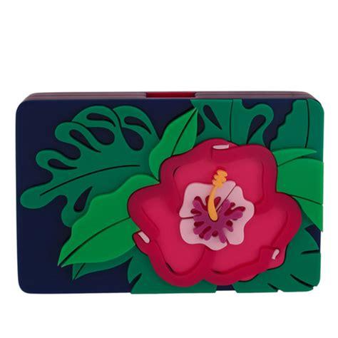 Bagtitude Hibiscus Tosca Clutch Bag lyst yazbukey hibiscus clutch