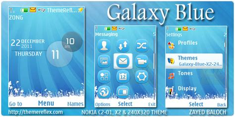 nokia c2 blue themes galaxy blue theme for nokia x2 c2 01 240 215 320 themereflex