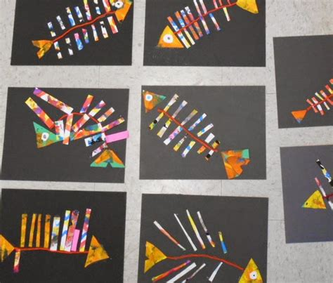 pattern art lesson grade 1 fine lines first grade fish collage art lessons home