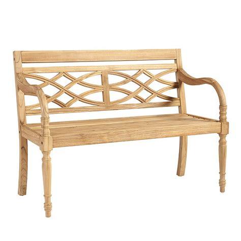 ballard design bench ceylon teak garden bench