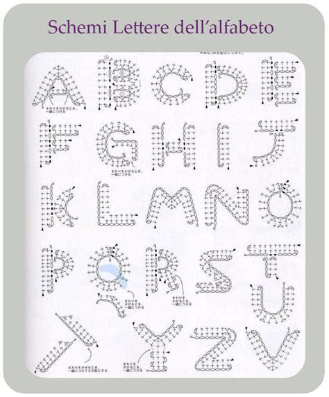 lettere all uncinetto schemi lettere dell alfabeto per uncinetto cucito