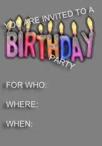 birthday invitations for free templates free birthday invitation template