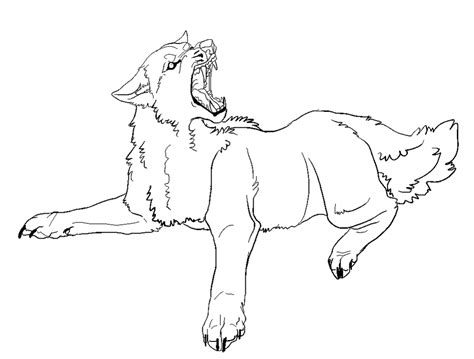 angry wolf coloring page angry wolf lines by dogified on deviantart