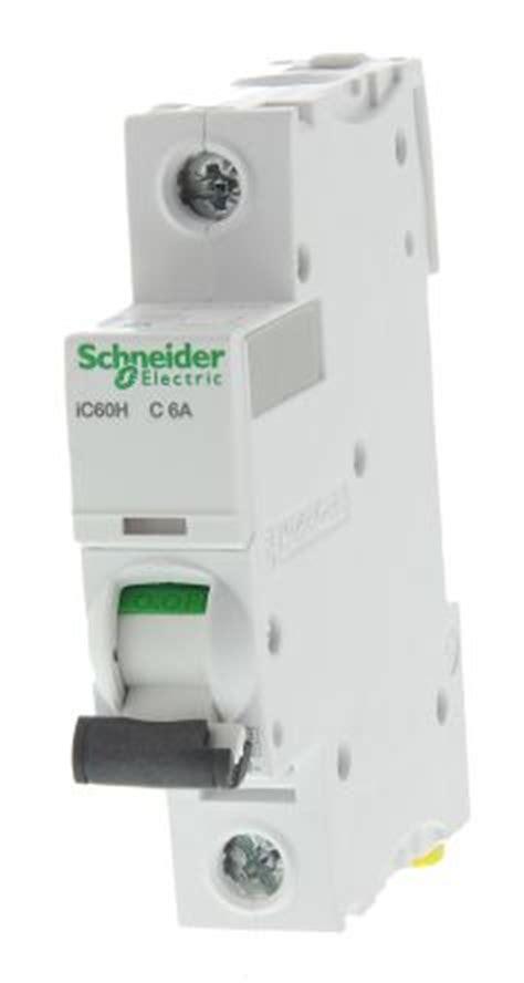 Mcb Mini Circuit Breaker 1p 25ere Schneider a9f54106 acti 9 ic60h mcb mini circuit breaker 1p 6 a 10 ka curve c schneider electric