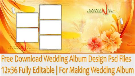 Wedding Album Design Free by Free Wedding Album Design Psd Files 12x36 Fully