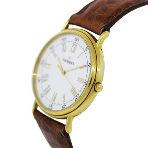 Movado Gold Plated 87 59 885 Vintage Mens Wristwatch Boca Raton