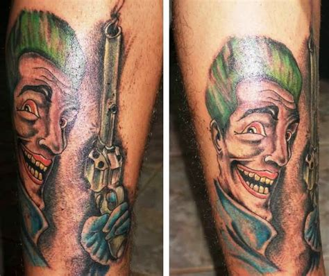 joker tattoo gun joker tattoo ideas and joker tattoo designs page 13