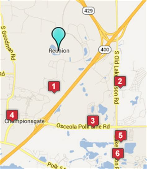 map of reunion florida reunion fl hotels motels see all discounts