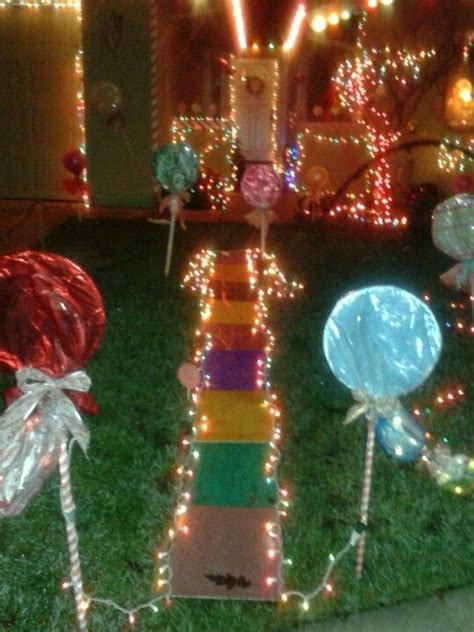 candyland christmas lights diy lollipops christmas ideas