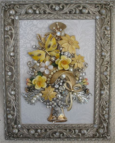 how to make a vintage jewelry tree framed vintage jewelry tree gold butterfly