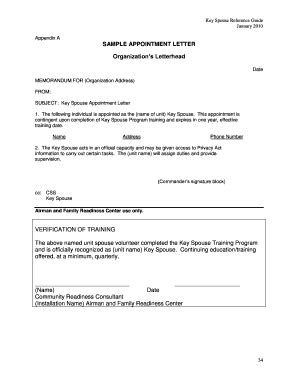 Aetc Official Letterhead Appointment Letter Sle Forms And Templates Fillable Printable Sles For Pdf Word