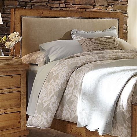 how to clean an upholstered headboard willow upholstered headboard in distressed pine bed bath