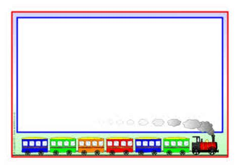 Train-themed A4 page borders (SB5330) - SparkleBox E Bike Clipart