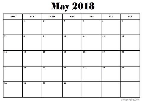 Google Sheets 2018 Calendar Template