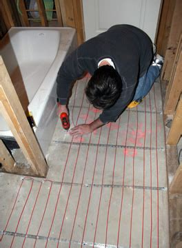 installing heated floor in bathroom radiant heat applications heated floors and snow melting
