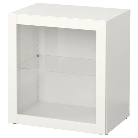 besta 60x40x64 best 197 shelf unit with glass door sindvik white 60x40x64 cm