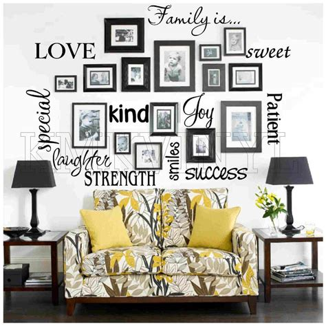 words for the wall home decor vinyl lettering family is sticky word quote wall art ebay