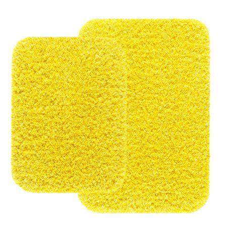 yellow bathroom rug sets mainstays 2 bath rug set yellow caution walmart
