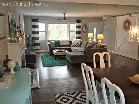 the living room restaurant retro ranch reno great room rugs