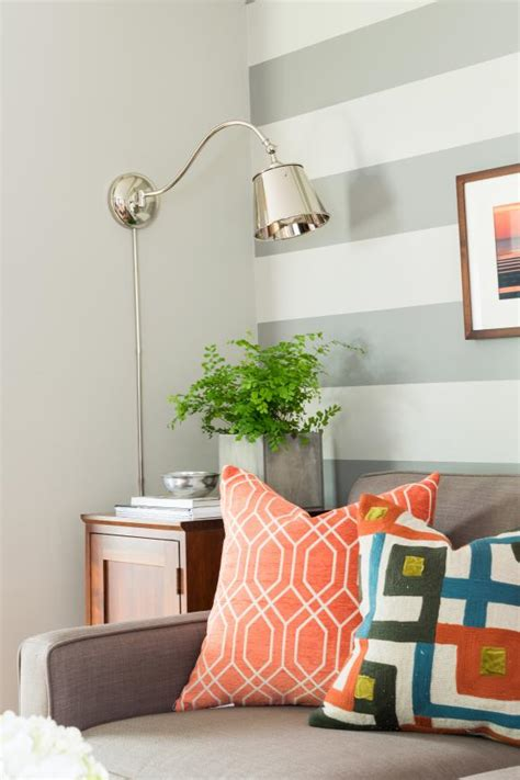 Striped Accent Wall Living Room Setting A Room S Mood With Color Hgtv